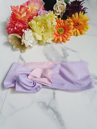 Lilac and Baby Pink Wired Head Wrap