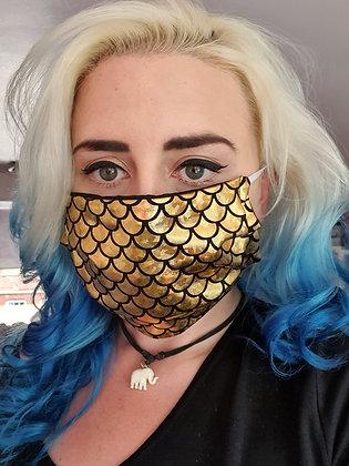 Gold Mermaid Face Mask