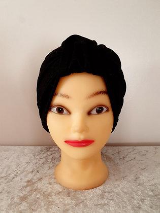 Black Chemo Cap