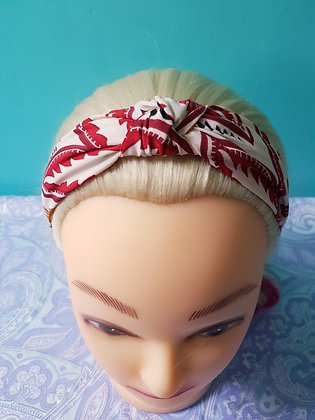 Red Paisley Head Band