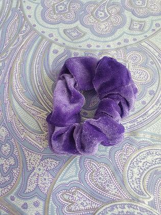 Hand Made Scrunchie - Purple Velvet