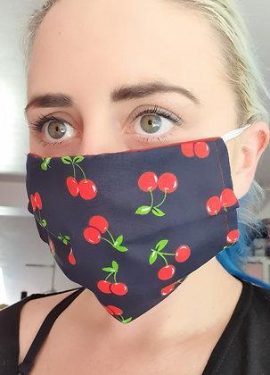 Navy Cherries Face Mask