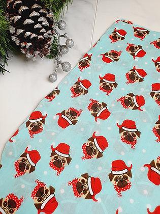 Blue Pugs Personalised Luxury Christmas Stocking