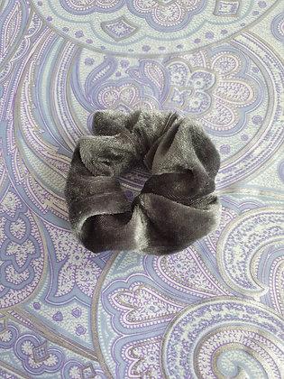 Hand Made Scrunchie - Grey Velvet