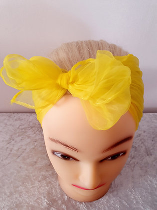 Yellow Chiffon Head Scarf