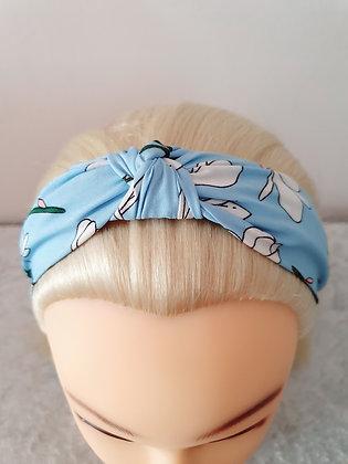 Blue Lillies Head Band