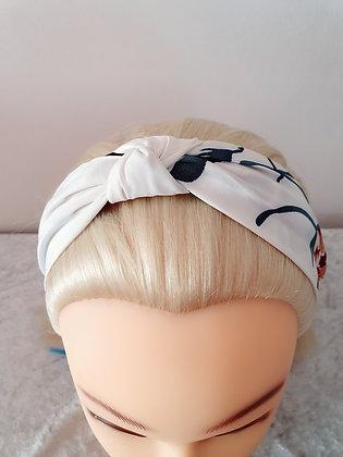 White Oriental Head Band