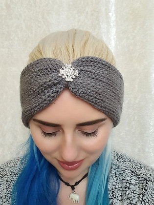 Grey Knitted Head Band
