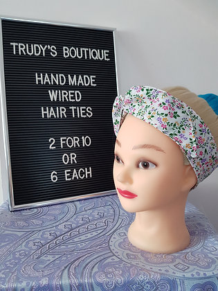 Multi Coloured Ditzy - Wired Hair Tie