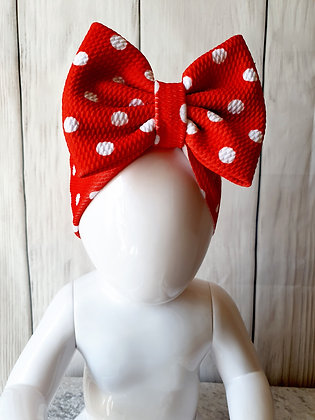 Red Polka Head Wrap