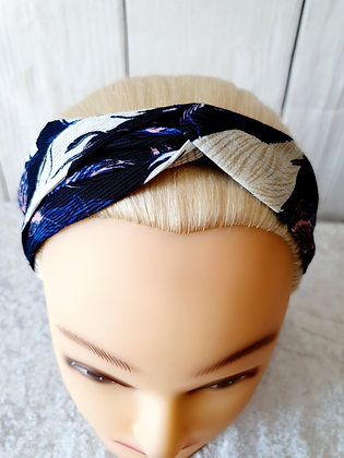 Tropical Leaves Elasticated Head Band