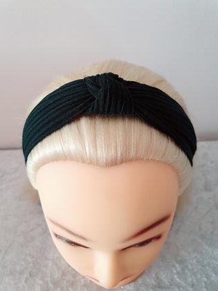 Dark Green Ribbed Head Band
