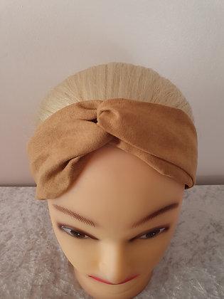 Beige Suede Elasticated Head Band