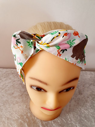 Zoo Animals Wired Hair Tie