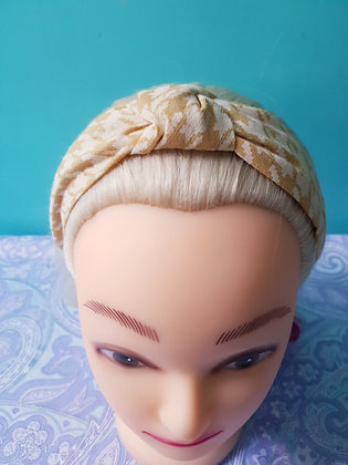 Mustard Houndstooth Head Band