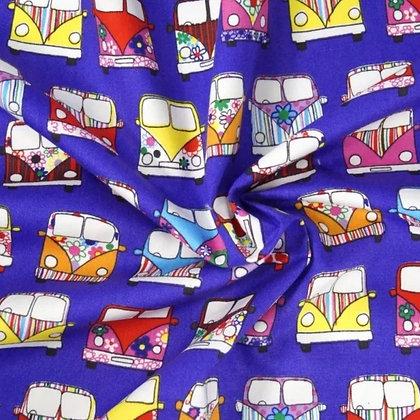 Dark Blue/Purple Camper Wired Hair Tie