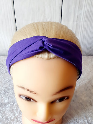 Plain Dark Purple Elasticated Head Band