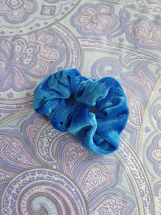 Hand Made Scrunchie - Bright Blue