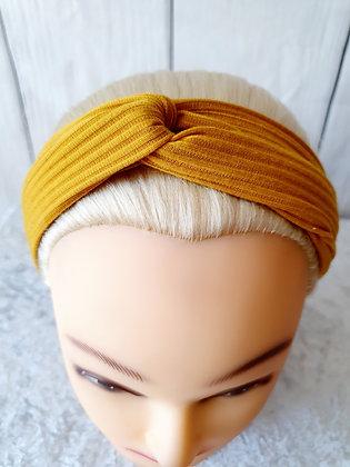 Mustard Ribbed Elasticated Head Band