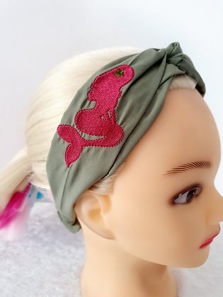 Embroidered Mermaid Elasticated Head Band