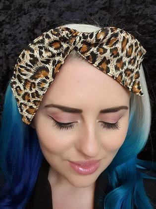 Leopard Print Wired Hair Tie
