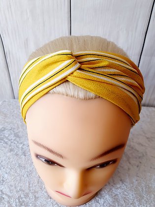 Yellow Stripes Elasticated Head Band