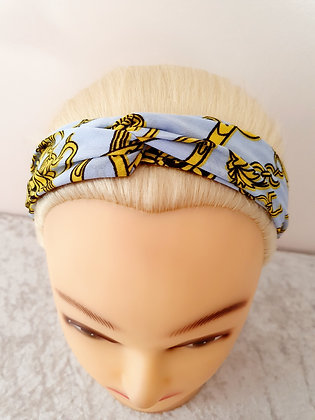 Chains on Light Blue Elasticated Head Band