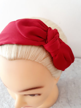 Red Wire Bow Head Band