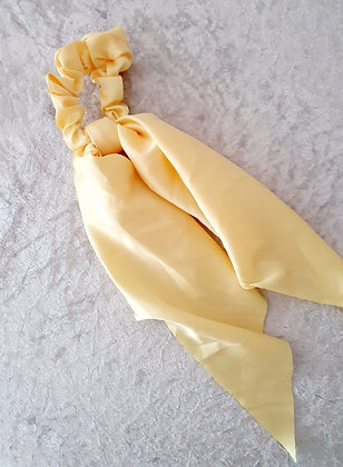 Long Tail Scrunchie Ivory