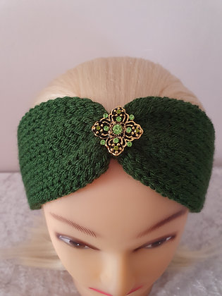Forest Green Knitted Head Band