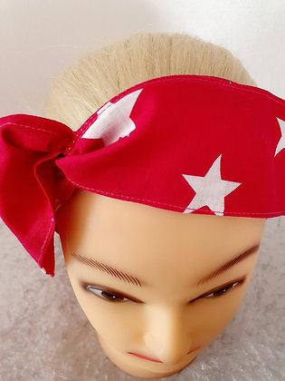 Lipstick Pink Stars Wired Hair Tie