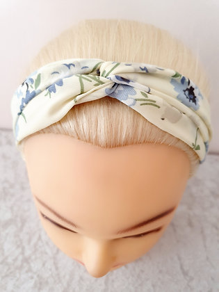 Ditsy on Cream Elasticated Head Band