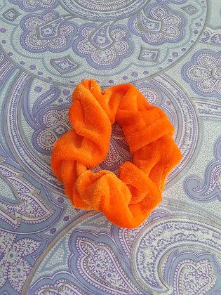 Hand Made Scrunchie - Dark Orange Velvet