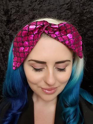 Pink Mermaid Wired Hair Tie