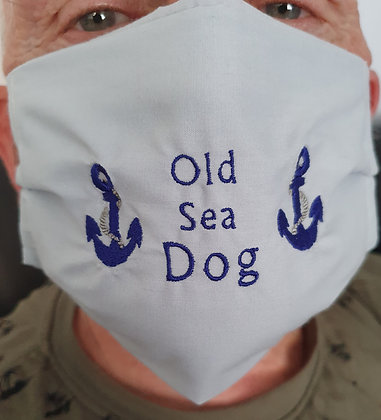"""""""Old Sea Dog"""" Embroidered Face Mask"""