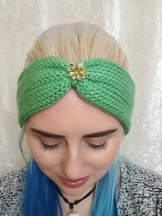 Mint Green Knitted Head Band