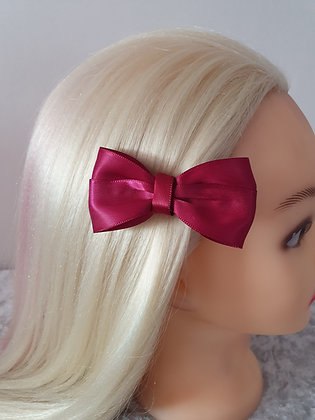 Wine Red Hair Bow