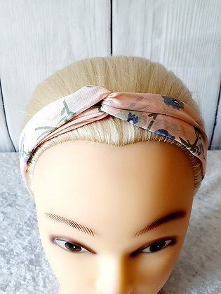 Pink Bloom Elasticated Head Band