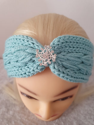 Frosted Pleat Knitted Head Band