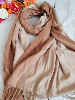Beige Two Tone Super Soft Scarf