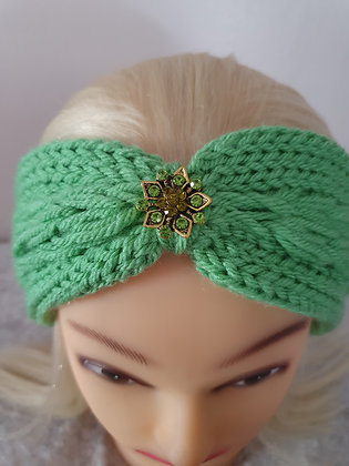Mint Green Pleat Knitted Head Band