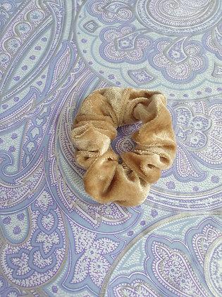 Hand Made Scrunchie - Dark Beige Velvet