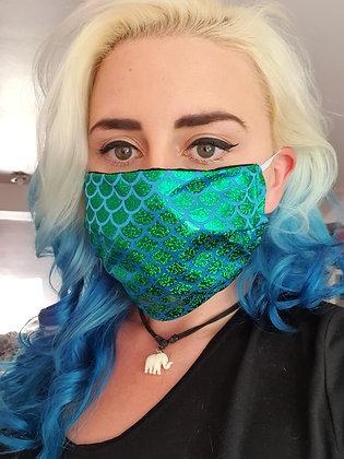 Green Mermaid Face Mask