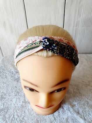 Pink Spring Floral Elasticated Head Band
