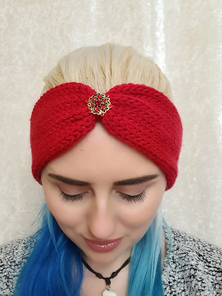 Red Knitted Head Band
