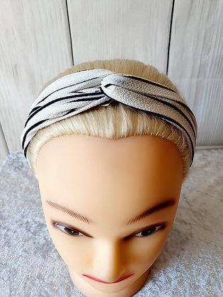 Black Stripes Elasticated Head Band