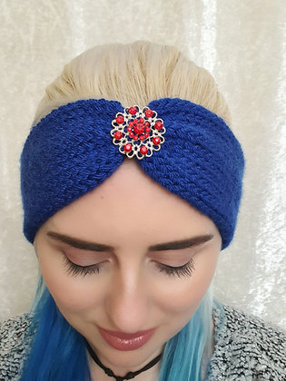 Cobalt Blue Knitted Ear Warmer