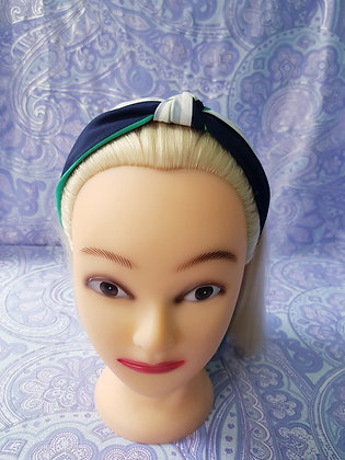 Navy and Green Stripes - Head Band