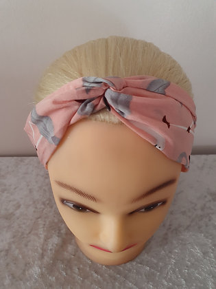 Pink Flamingos Elasticated Head Band