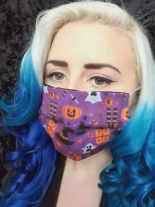 Spookies Purple Face Mask